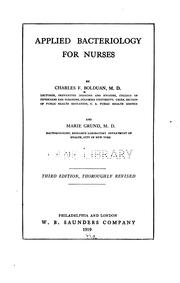 Cover of: Applied bacteriology for nurses