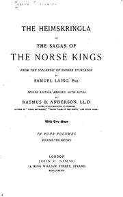 Cover of: The Heimskringla: Or, The Sagas of the Norse Kings from the Icelandic of ..