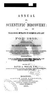 Cover of: Annual of Scientific Discovery: Or, Year-book of Facts in Science and Art