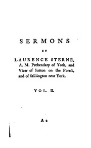 Cover of: The Sermons of Mr. Yorick ..