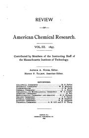 Cover of: Review of American Chemical Research