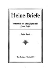 Cover of: Heine-Briefe