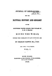 Cover of: Journal of Researches Into the Natural History and Geology of the Countries Visited During the ..