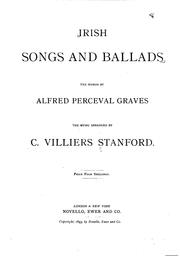 Cover of: Irish Songs and Ballads
