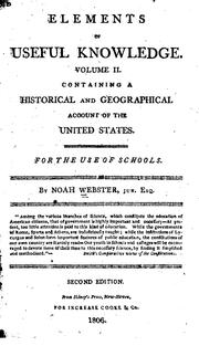 Cover of: Elements of Useful Knowledge: Containing a Historical and Geographical Account of the United States
