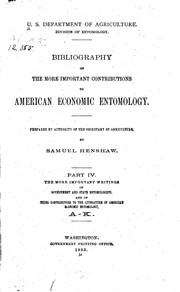 Cover of: Bibliography of the More Important Contributions to American Economic ...