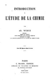 Cover of: Introduction a l'étude de la chimie