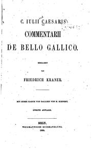 Cover of: C. Julii Caesaris Commentarii de bello Gallico
