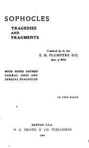 Cover of: Tragedies and Fragments