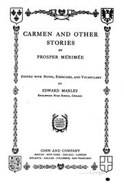 Cover of: Carmen and other stories: and other stories