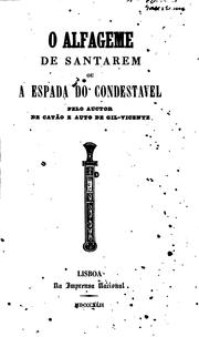 Cover of: O alfageme de Santarem; ou, A espada do condestavel