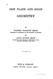 Cover of: New Plane and Solid Geometry
