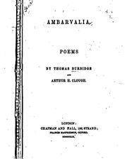 Cover of: Ambarvalia: Poems