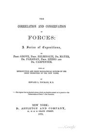 Cover of: The Correlation and Conservation of Forces: A Series of Expositions