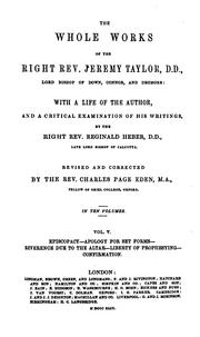 Cover of: The Whole Works of the Right Rev. Jeremy Taylor ...