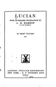 Cover of: Lucian: With an English Translation