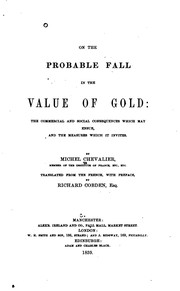 Cover of: On the probable fall in the value of gold