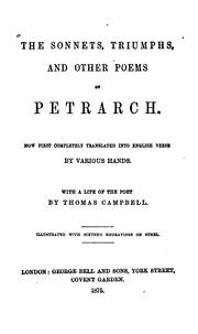 Cover of: The sonnets, triumphs, and other poems of Petrarch