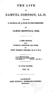 Cover of: The Life of Samuel Johnson, LL.D.: Including A Journal of a Tour to the Hebrides