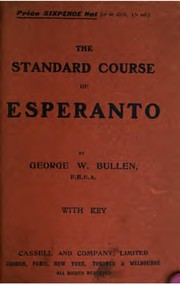 Cover of: The standard course of Esperanto