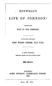 Cover of: Boswell's Life of Johnson: Including Their Tour to the Hebrides