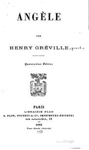 Cover of: Angèle