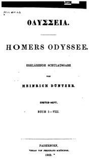Cover of: Homers Odyssee
