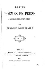 Cover of: Petits poe  mes en prose