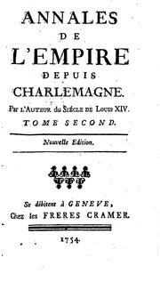 Cover of: Annales de l'empire depuis Charlemagne