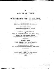 Cover of: A General View of the Writings of Linnæus,