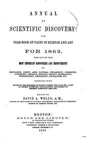 Cover of: The Annual of Scientific Discovery, Or, Year-book of Facts in Science and Art.