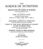 Cover of: The Science of Nutrition: Treatise Upon the Science of Nutrition