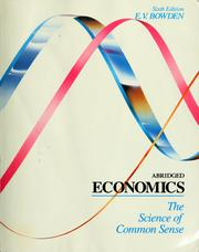Cover of: Abridged economics