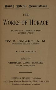 Cover of: The Works of Horace
