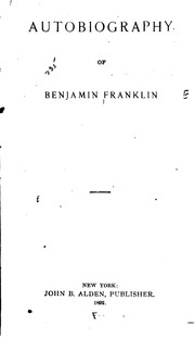 Cover of: Autobiography of Benjamin Franklin