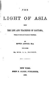 Cover of: Poetical Works of Edwin Arnold: Containing The Light of Asia, The Indian Song of Songs, Pearls ..