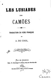Cover of: Les Lusiades