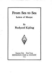Cover of: From Sea to Sea, Letters of Marque