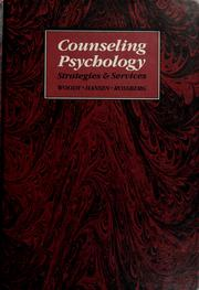 Cover of: Counseling psychology