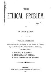 Cover of: The Ethical Problem