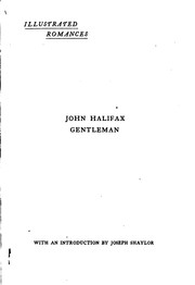 Cover of: John Halifax Gentleman