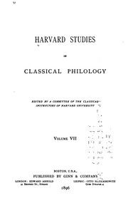 Cover of: Harvard Studies in Classical Philology, Volume 93