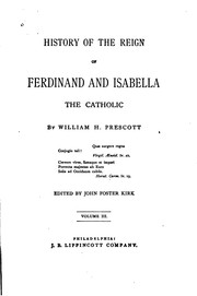 Cover of: History of the Reign of Ferdinand and Isabella, the Catholic
