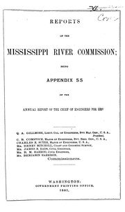 Cover of: Report of the Mississippi River Commission