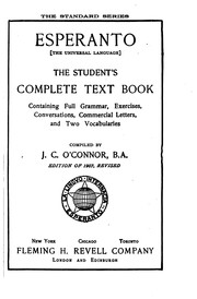 Cover of: Esperanto (The Universal Language): The Student's Complete Text Book ...