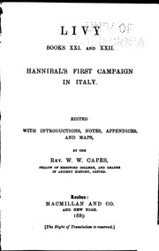 Cover of: Livy, Books XXI and XXII: Hannibal's First Campaign