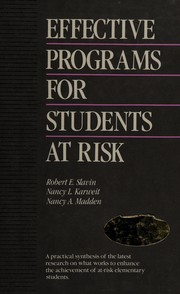 Cover of: Effective programs for students at risk