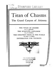 Cover of: Titan of Chasms: The Grand Canyon of Arizona
