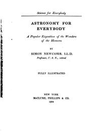 Cover of: Astronomy for Everybody
