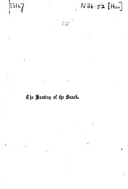 Cover of: The Hunting of the Snark: An Agony in Eight Fits